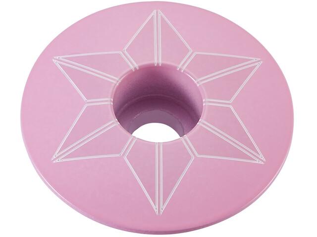 Supacaz Star Capz Ahead-Kappe pulverbeschichtet giro pink